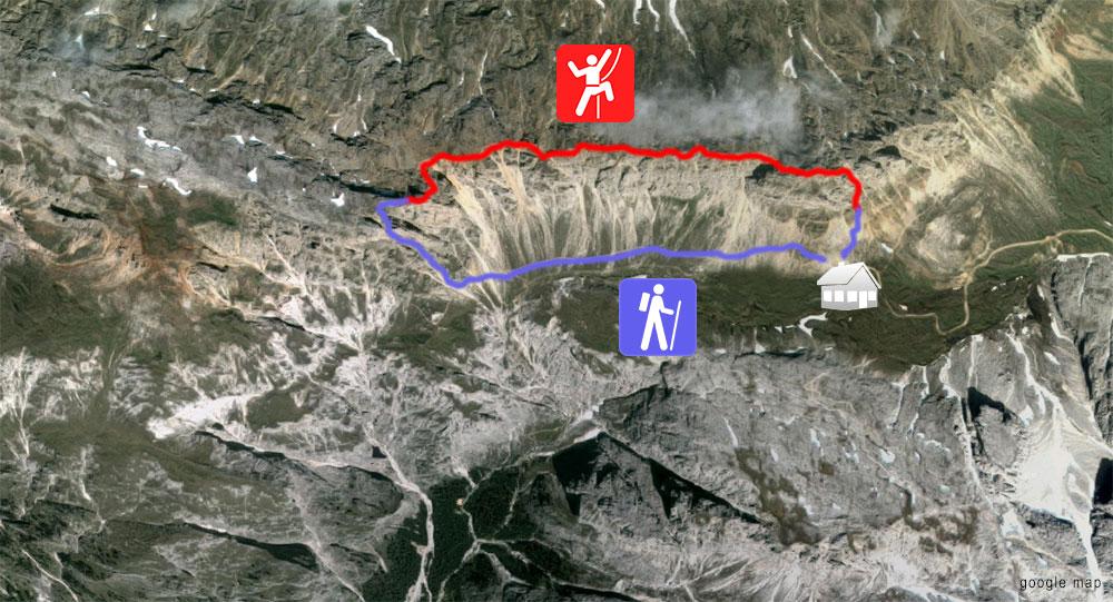 Klettersteig Map : Maximilian klettersteig vom tierser alpl über den roßzahn und
